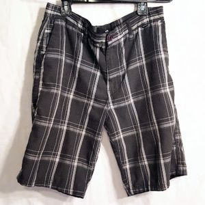 Hurley plaid shorts size 31